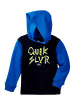 NWT Quiksilver Toddler Boys 2T Blue Hooded Sweatshirt Monster Parts Glow In Dark
