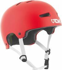 TSG Evolution Skate & Bike Helmet Satin Fire Red Color w/ Snug Fit & Triple Cert