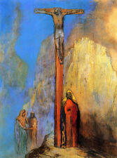 Calvary  by Odilon Redon Giclee Canvas Print Repro