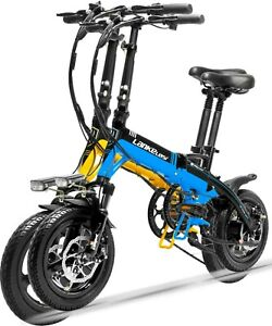 """14"""" Compact Folding Electric Bicycle Commuter City Ebike 250W 36V 8.7AH 25KM/H"""