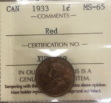 1933 Canada Small One Cent - ICCS MS-65 Red - #XUR 968