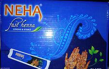 5 X Neha Herbal Fast Henna Mehandi Cones Nautural Herbal Strong BLACK Tubes