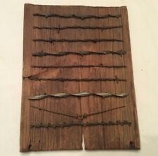 Vintage ANTIQUE BARBED WIRE Handcrafted 1800's Barb Wire Display 9 cuts Barnwood