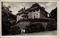Gernrode Sachsen-Anhalt Harz AK 1956 DDR FDGB Erholungsheim Stubenberg gelaufen
