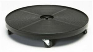 DeVault DEV2400B Black Plastic Plant Dolly with 5 Outer Wheels 24 Dia. in.