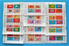 Hong Kong 1987-1998 China New Year Zodiac Stamp Sheet Full Set MNH VF.
