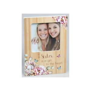 Sister Photo Frame - Sister is a Gift to the Heart - Floral Butterfly 18.5 CM