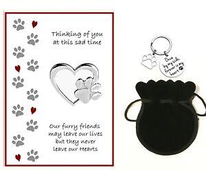 Dog Bereavement RIP Card (A5) and By My Side Keyring Gift - Dog Loss Sympathy