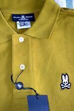 $85 NWT PSYCHO BUNNY BRONZE Medium Large 6 PIMA cotton short sleeve POLO shirt