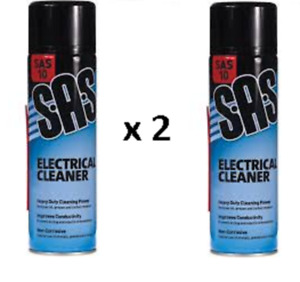 2 x SAS Electrical Cleaner 500ml Electrical Spray Cleaner