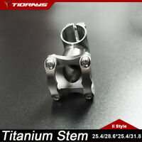 Tiorays Titanium Stem Bike Bicycle Stems GR9Ti 50mm-120mm 5°-45° 28.6*25.4/31.8