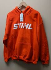 STIHL Logo Orange Hooded Hoodie Sweatshirt - M, L, XL & 2X Sizes