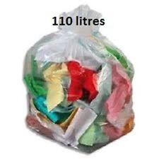 Sac poubelle BD transparent 110 L 22 µ - Carton de 200 sacs poubelles 110 litres