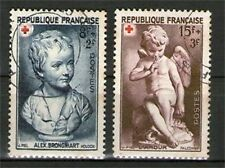 SERIE TIMBRES N° 876-877 OBLITERES TB  CROIX ROUGE 1950
