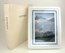 "White - 4"" by 6"" SHOWBOX PHOTO VIEWER 3-in-1 Picture Frame (Holds 40 Pictures)"