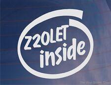 Z20LET INSIDE Novelty Vinyl Car/Window/Bumper Sticker - Ideal for Vauxhall/Opel