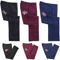 Relco Mens Sta Press Trousers Blue Burgundy Black Mod Skin Retro Stay Pressed