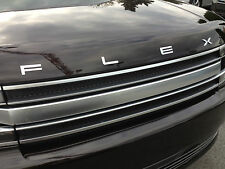 OEM NEW 13-19 Ford Flex Silver Hood Letters Emblem- Silver Finish, Self Adhesive
