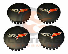 2008-2013 Chevrolet C6 Corvette Genuine GM Satin Black Center Cap Set Of 4