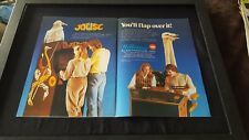 Joust Arcade Game Rare Original Williams Promo Poster Ad Framed!