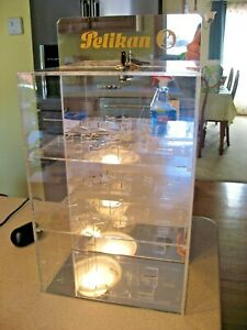Vintage Pelikan Retail Pen Display Case with Lock and Key - Display your Pens!
