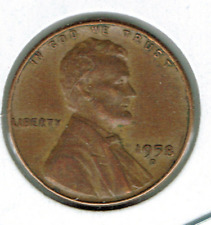 1958-D Denver Circulated Business Strike Copper One Cent Coin!
