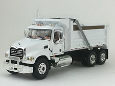 1/64 FIRST GEAR WHITE MACK GRANITE DUMP TRUCK