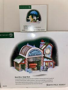 Department 56 North Pole - Sleigh Wash + Accessory