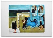 "Nachum Gutman- Original Lithograph ""Bella Vista Hotel"""