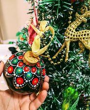 Handmade Christmas Ornament dot mandala