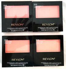 (4) Revlon Powder Blush w/ Brush New & Sealed 010 - Classy Coral 0.17 oz each