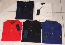 POLO RALPH LAUREN Custom Fit TAILLE S/M/L/XL NEUF Blanc, Bleu Marine, Noir Rouge
