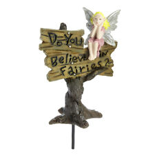"Fairy Jardin Mini - "" Do You Believe En Fées ?"" Signe"