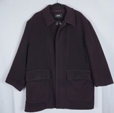 VTG Hugo Boss Mens Krakow Wool Blend Dark Purple Coat Jacket Sz 44R