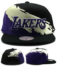 Los Angeles Lakers New Mitchell & Ness Paintbrush Black Era Snapback Hat Cap