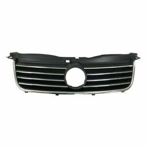 Grille 1.8L/2.0L Chrome/Black With Closed Vent fits 2001 2005 Volkswagen Passat