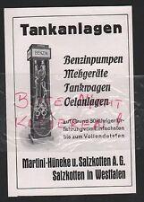 SALZKOTTEN, Werbung 1935, Martini-Hünecke u. Salzkotten AG Tankanlagen