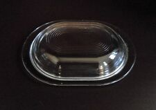 Vintage Pyrex Clear Glass 602 C Lid - Replacement - Art Deco Style