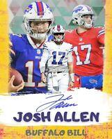 Josh Allen, Buffalo Bills  8x10 Cracked Ice Wall Art - Limited Edition. 16pt