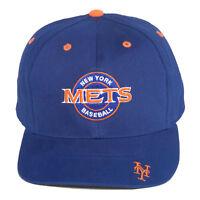 MLB Youth 8-20 S/M New York Mets Adjustable Strap Hat Cap - Blue