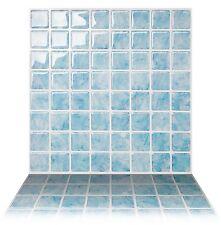 Tic Tac Tiles®_ Premium 3D Peel & Stick Wall Tile in Vetro Aqua (5 sheets)