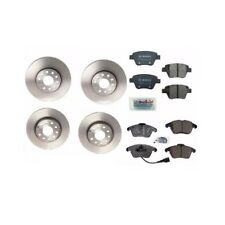 2 Front & Rear Disc Brake Rotors + Pads Kit Fits: Audi A3 Volkswagen Beetle Golf