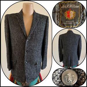 Tailored Blazer Small Knobby Koats Tweed Jacket 8 10 UK Vintage 40s Tweed Blazer 1940s Wool Jacket Size 4 6 US Check Blazer