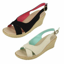 Patternless Slingback Casual Textile Heels for Women