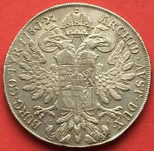 AUSTRIA , MARIA THERESIA ORIGINAL TALER THALER 1780  I.C F.A ( CZ.8 ) , RARE
