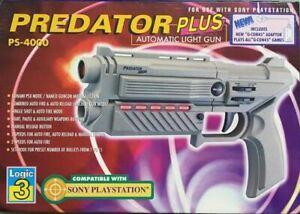 Predator Plus Light Gun PS 4000 Pistola Nuova compatibile con PS1 Playstation 1