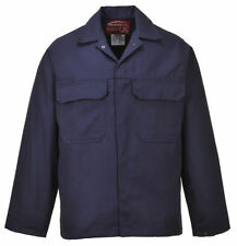 Popper Waist Length Cotton Collared Coats & Jackets for Men