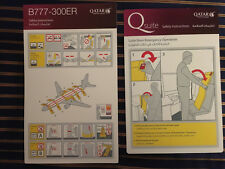 Qatar Airways Boeing 777-300ER Q Suites Special Safety Card RARE Airlines