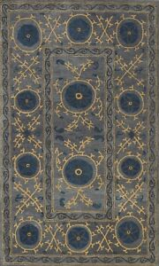 Contemporary Geometric Art And Crafts Hand-tufted Area Rug Wool Foyer Carpet 5x8
