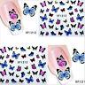 Nail Art Water Decals Transfers Summer Rainbow Butterflies Gel Polish (1212)
